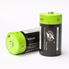 ZNTER 2pcs 1.5V 6000mAh USB Rechargeable D Battery Recycle Multifunctional Charged Lithium Polymer Play And Plug