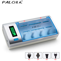 PALO Overheat Protection Fast Charger Discharger With LCD Display Auto Switch Off For Universal Rechargeable Batteries