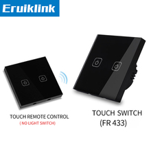цена на EU/UK Standard Light Switch,1/2/3 gang 1 way Black Glass Panel Touch remote control switches+LED Indicator RF433 Smart home