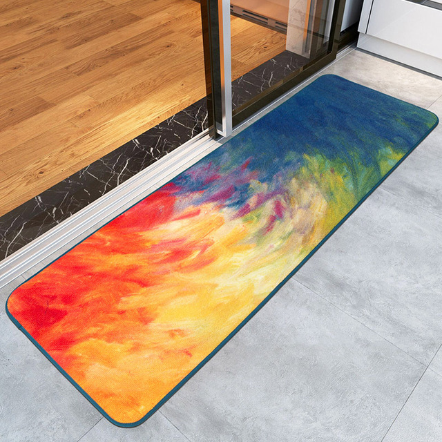 Great 2016 New Trendy Oil Painting Welcome Mat Kitchen Carpets Washable Bedroom  Rugs Anti Slip Entrance
