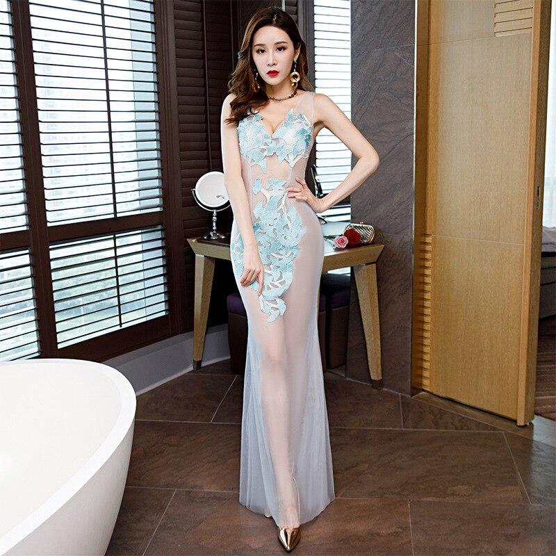 Robe d'été Vadim Sexy & Club a-ligne solide demi dentelle précipitée offre spéciale grande taille Vestido De Festa Vestidos Mujer