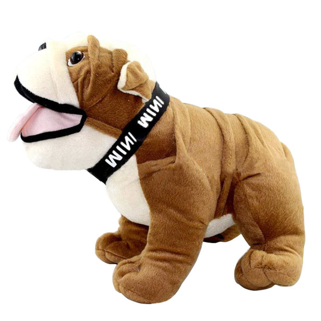 Plush Stuffed Bulldog Doll Cute Dog Shape Plush Toys Cartoon Soft Stuffed Animal Doll Kids Toys Children Birthday Party Favor