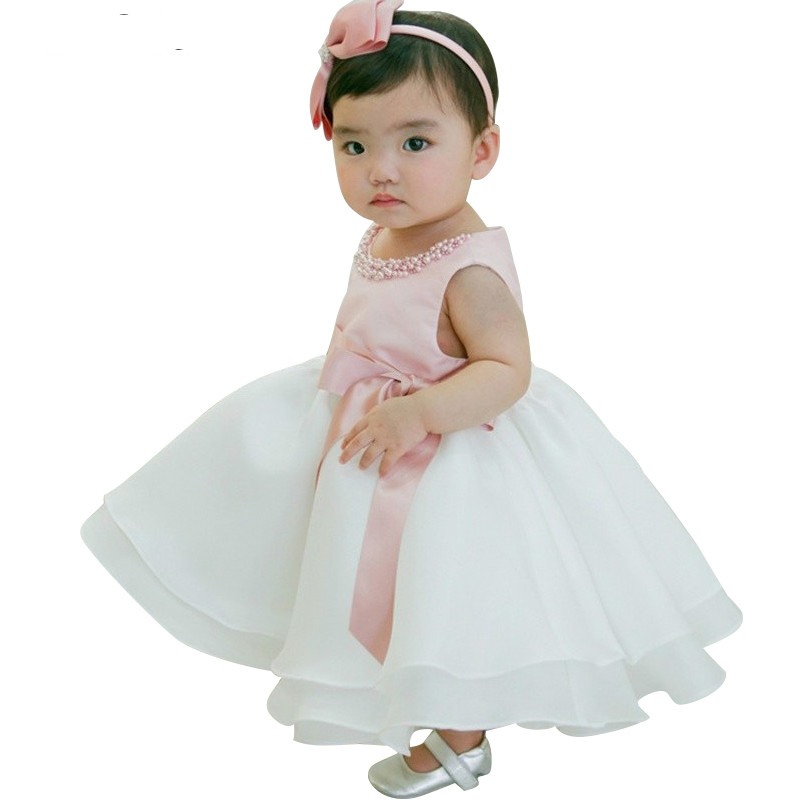 Cute baby girl dress 1 year birthday dress infant princess for Infant dresses for weddings