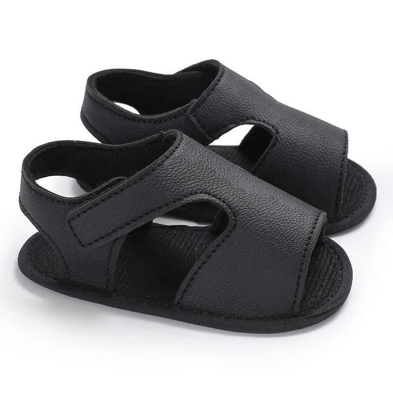 2020 New Summer Baby Boys Sandals Soft Kid Leather  Prewalker Shoes Solid  Sole Boys