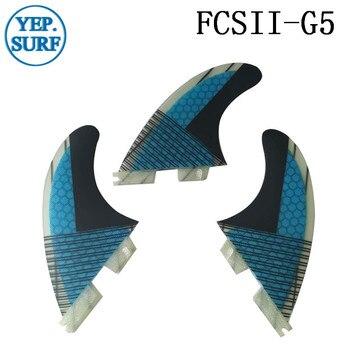 زعانف لركوب الأمواج FCS2 G5 العسل زعانف ثلاثي زعنفة مجموعة FCSII G5 زعانف الفايبرجلاس قاعدة 3 قطعة لكل مجموعة