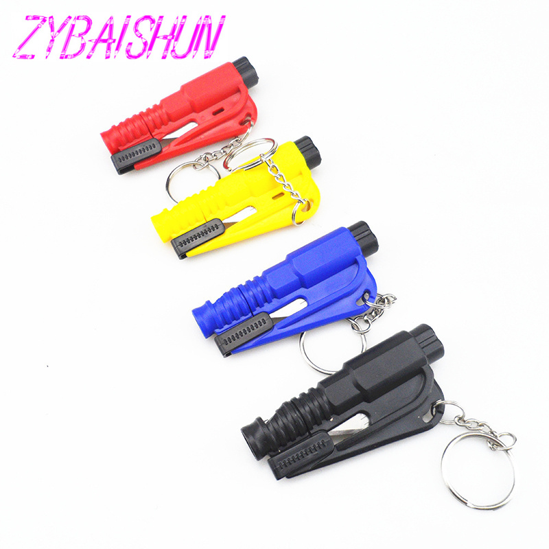 1 PC. Styling Car Pocket Auto Emergency Rescue Means Glass Window Breach Infant Safety Hammers With Keychain Belt Cutter