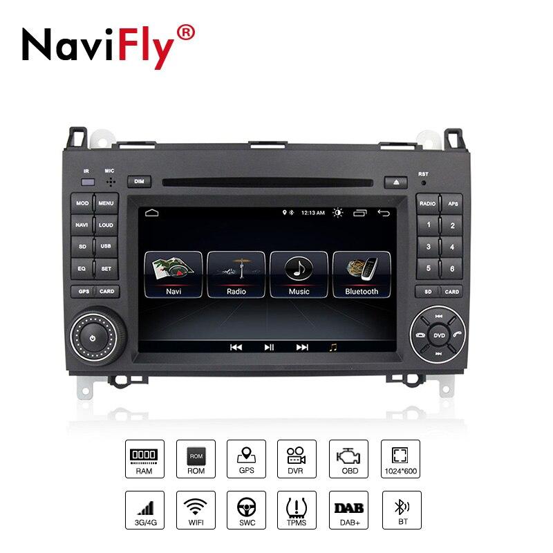 Бесплатная доставка! Navifly android8.1 Автомобильный gps dvd плеер для Mercedes/Benz Sprinter B200 Vito Viano W169 W245 W639 W209