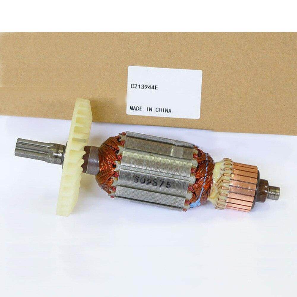 Rotor d'armature de marteau électrique à arbre d'entraînement AC 220 V pour HITACHI DH38MS DH38SS, accessoires d'outils électriques de haute qualité!