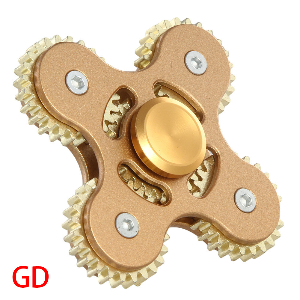 2017 Gears Hand Spinner Fingertip Finger Top Toys EDC ADHD Spiner Spiral Desktop GIFT For Childen With Autism Quality Control