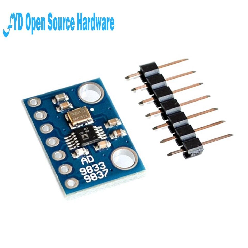 Программируемый микропроцессор AD9833, модуль последовательного интерфейса, синусоидальный квадратный модуль генератора сигналов DDS, параме...