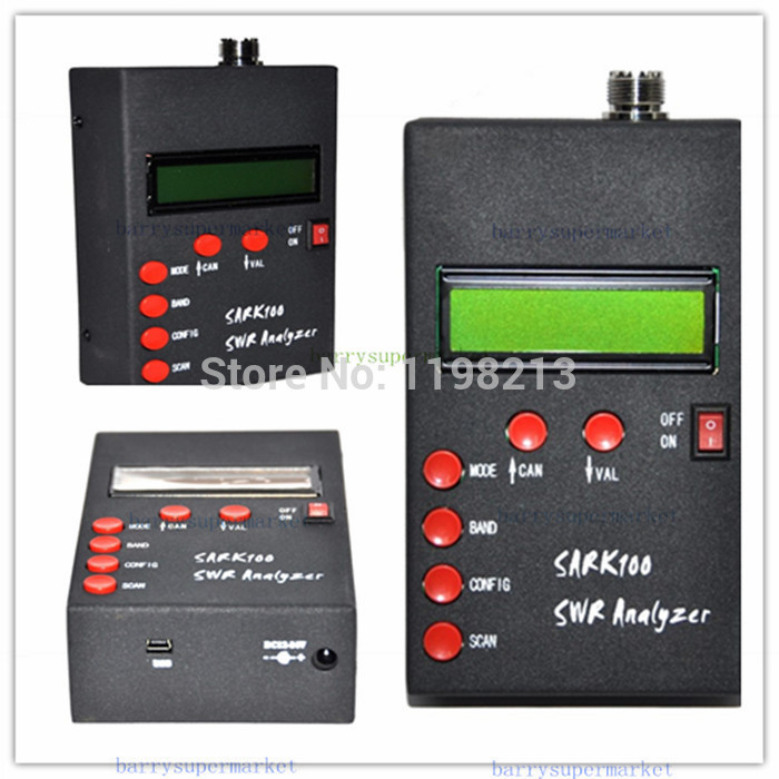 SARK100 ANT SWR Antenna Analyzer Meter tester monitor checker detector For HAM Radio Hobbists