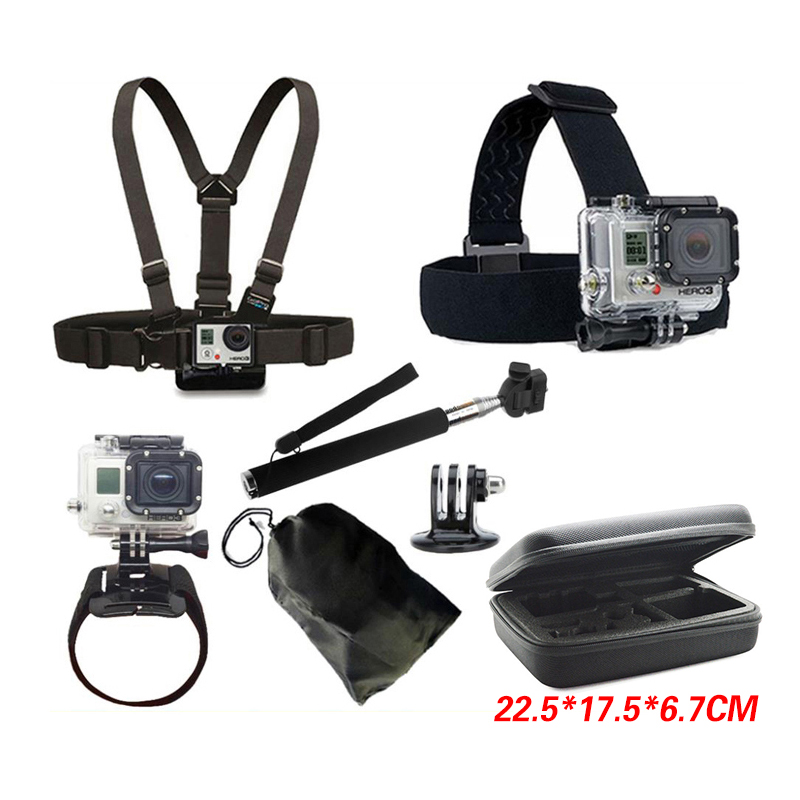 GoPro Accessories Collecting Box Handheld Monopod Tripod Mount Screw Bag for Go Pro Hero SJCAM SJ4000 SJ5000 EKEN H9 Xiaomi Yi