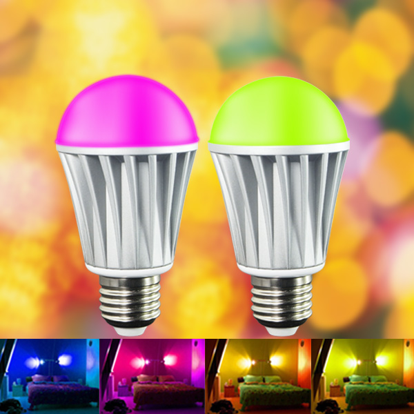 E27 7.5W Bluetooth Smart led bulb RGBW full color changing dimmable Wireless  bulbs millions of color for phone ipad IOS Android wf820 e27 smart phone led wi fi controlled sunrise wake up multicolored color changing disco light sleeping dimmable