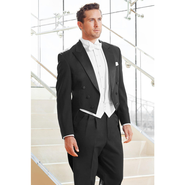 Free Shipping Retro 3 Pieces Mens Morning Suits Tail Wedding Suit ...