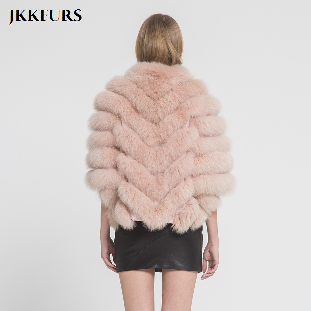 Women 39 s Fur Jacket Real Fox Fur Coat Spring Winter Warm Fashion Style 100 Natural Genuine Fur Jacket Lady Outerwear S7369 in Real Fur from Women 39 s Clothing
