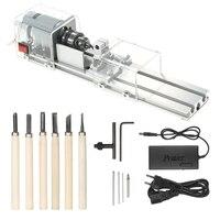 כלי cnc CNC מיני מכונת מחרטה כלי 100W DIY ווד עבודה ווד מחרטה CNC כרסום מכונת ליטוש והברקת לקדוח כלי עם כוח (1)