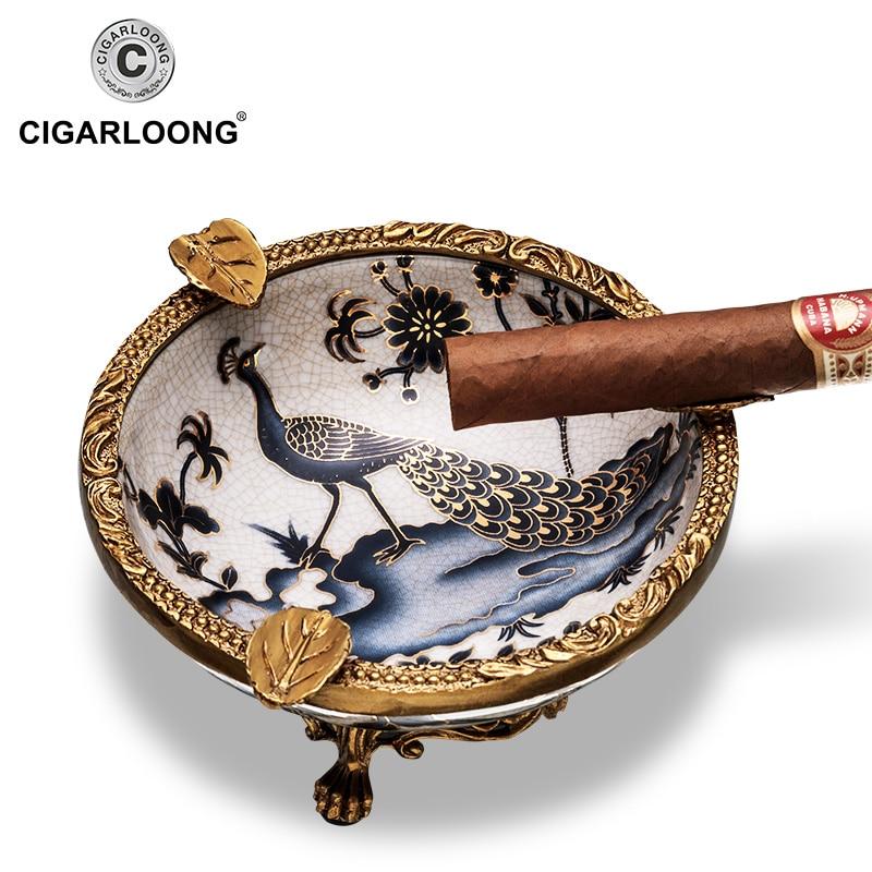 CIGARLOONG cigar ashtray ceramic 45mm smoke tank decoration fashion cigar smoke detector AH-1100CIGARLOONG cigar ashtray ceramic 45mm smoke tank decoration fashion cigar smoke detector AH-1100