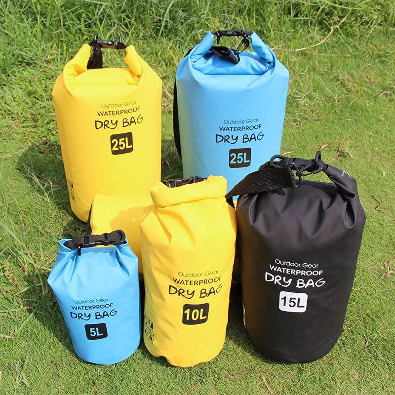 คุณภาพ5Lกระเป๋าแห้ง500Dพีวีซีกันน้ำแห้งกระสอบถุงเก็บล่องแพกีฬาเรือคายัคพายเรือแคนูว่ายน้ำ...