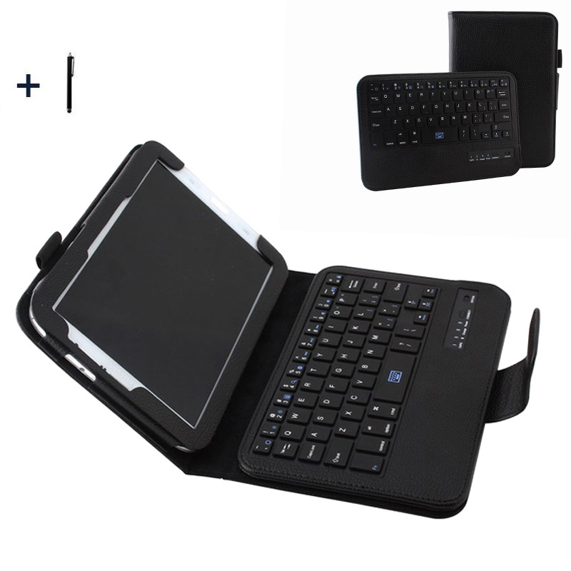 For Samsung Galaxy Note 8.0 N5100 Wireless Bluetooth Keyboard Case For N5100 Detachable Tablet Flip Leather Stand Cover +Stylus metal ring holder combo phone bag luxury shockproof case for samsung galaxy note 8