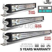 CO LIGHT 22 32 42 Inch LED Work Light Bar 12V 24V LED Light Bar Combo for Offroad Boat Car Truck ATV SUV Lada 4x4 Auto LED Bar