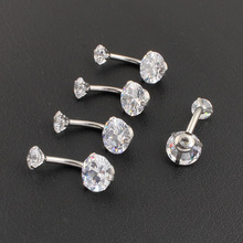 Crystal Body Jewelry Belly Button Ring Body Piercing Navel Piercing Silver Color Ombligo