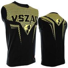 VSZAP SHARP Men's MMA Sleeveless vest Fight Muay Thai Gold printing Elasticity Moisture perspiration