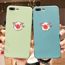 Funny Animal Soft TPU Cases Cover For iPhone 7 Plus X XS XR Xs Max 8 Plus Cases For iPhone 6s Plus Case Anti-knock Plain Cover цена и фото
