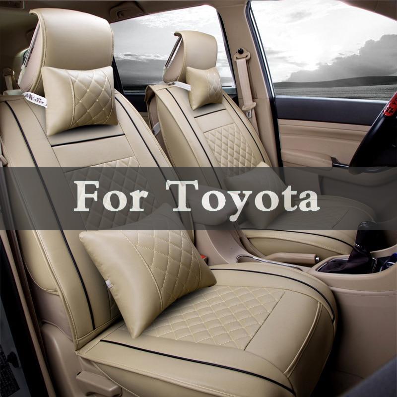 Универсальный чехол для автомобильного сиденья из искусственной кожи, 5 цветов, чехлы для автомобильных сидений Toyota Avensis Brevis Camry Caldina Aygo Blade