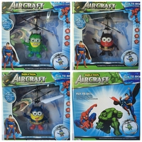 Remote Control RC Helicopter Flying Captain America/ Spiderman Quadcopter Drone Ar.drone Kids Toy Fairy Avengers Doll