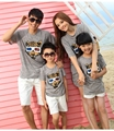 New Summer cotton Family outfits , woman daughter man Son sets, 3D tiger Girls Boys t shirt+ pants sets