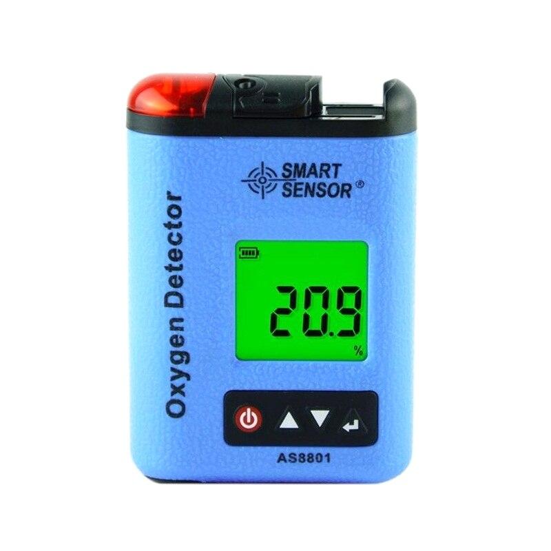 AS8801 O2 D'oxygène Mètre moniteur détecteur de fuite de gaz Industriel numérique analyseur De Gaz tester Sound Light Vibreur
