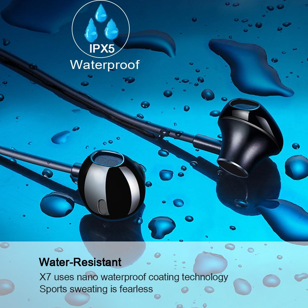 Lewinner X7 plus Neckband Wireless Earphone Sport Bluetooth Headphone Dual Battery with mic Headset Earpiece Auriculares in Bluetooth Earphones Headphones from Consumer Electronics