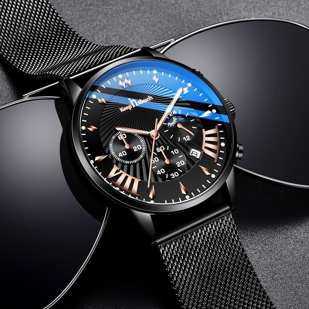 KEEP IN TOUCH Mens Watches Top Brand Luxury Quartz Watch Men Casual Waterproof Reloj Hombre Sport Watch Date Relogio Masculino