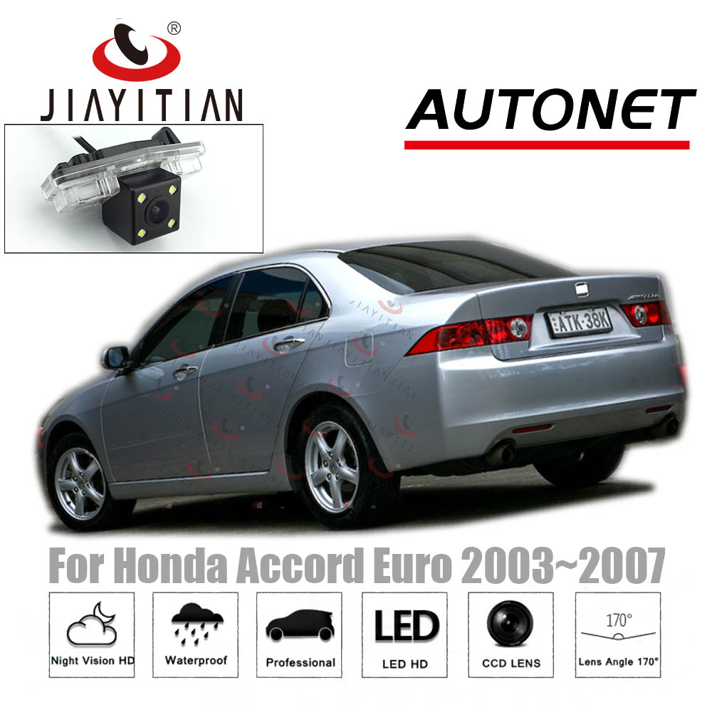 JIAYITIAN Rear View Camera For Honda Accord 7 2002 2003 2004 2005 2006 2007 CCD Night Vision Backup Camera License Plate Camera