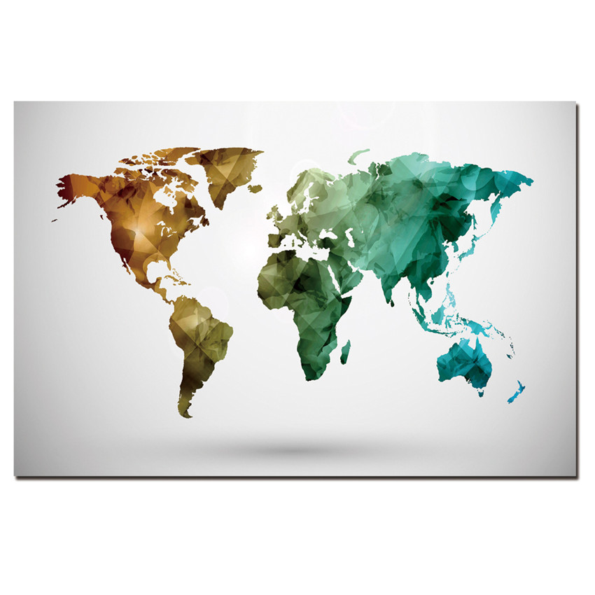 Buy 1 panel modern abstract map painting for Buy canvas wall art