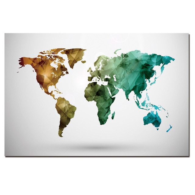 1 panel modern abstract map painting on canvas wall art cuadros 1 panel modern abstract map painting on canvas wall art cuadros world map canvas priting home gumiabroncs Gallery