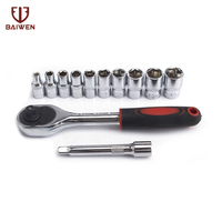 12set vanadium steel Torque ratchet wrench set 1/2 CR V Universal Vehicle cycle Socket Wrench Kit