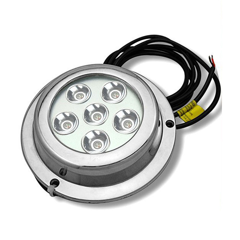 18W Stainless Steel LED Underwater Light 12V Marine Boat Yacht Water Drain Light White/Blue/Green