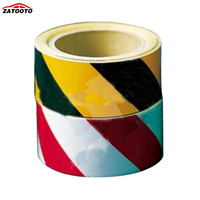 (30 Roll/LOT) Wholesale 45M*5cm Car Motorcycle Reflective Tape Film Sticker Adhesive Warning Tape yellow/black red/white
