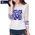 New Style Lady White Shirts Formal Work Blouse Size S-3XL Korean Women Printed Shirts Chiffon Blouse Slim Fit Lady Shirts