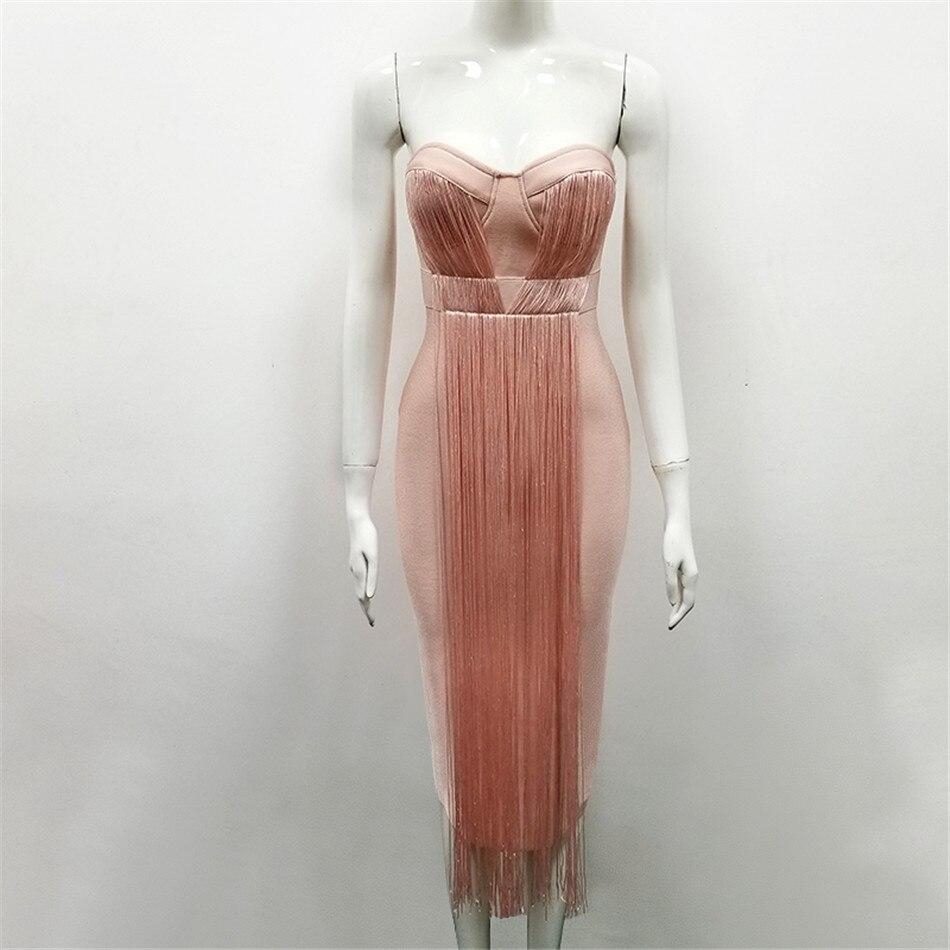 CIEMIILI 2019 nouvelle mode sans bretelles femmes robe femme sexy robes fête boîte de nuit robe formelle vestido femmes élégant