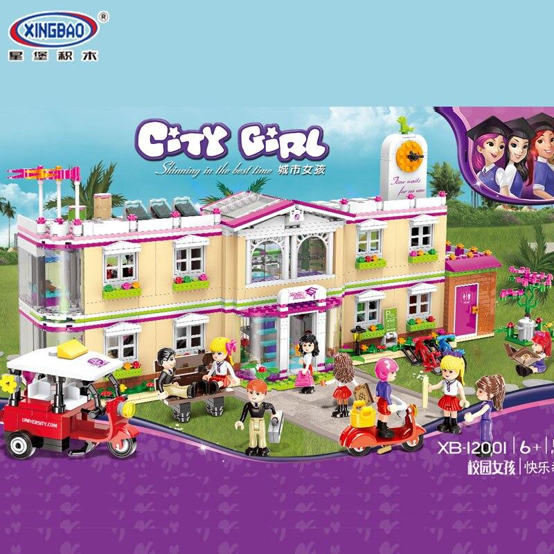 Новый 1750 шт. город девушка друзья Happy преподавания здание школы комплект Legoings строительные блоки кирпичи забавные игрушки для девочек