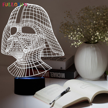 Cool and Handsome Star Wars Darth Vader  Shape  3D Illusion L night light as Home Decoration.