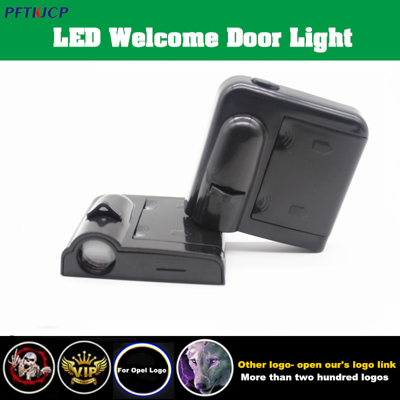 LED Door Warning Light With for Opel Logo Projector For Opel astra h astra j mokka astra g insignia astra corsa zafira vectra color my life stainless steel door handle cover sticker for opel zafira astra insignia vauxhall mokka astra j cruze malibu trax