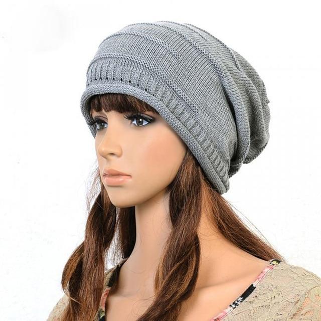 a48332a7194f5 2016 marca de moda beanie outono chapéus de inverno para mulheres de malha  touca Gorro cap