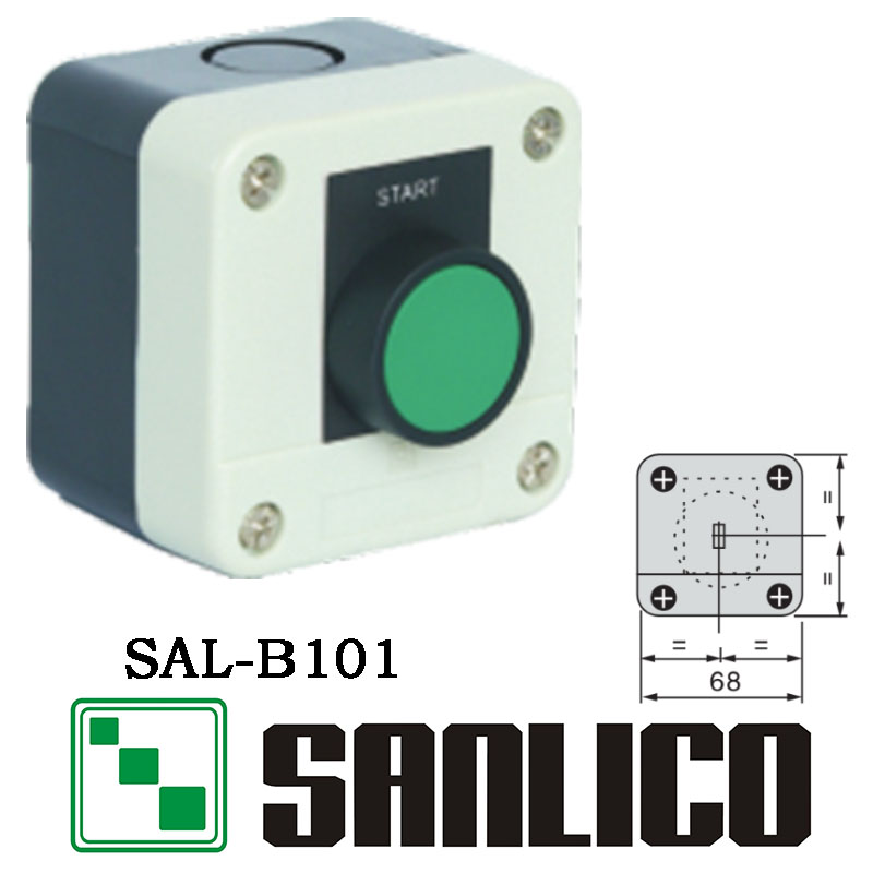 waterproof IP65 control box push button switch station  SAL(LA68H XAL)-B101  with label mini interruptor switch button mkydt1 1p 3m power push button switch foot control switch push button switch