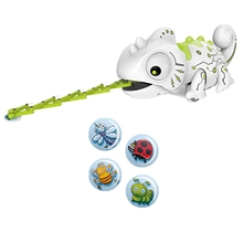 Electronic Intelligent Pets Rc Robot Toy Cute Smart Chameleon Robotic Animals Can Eat Things Gift for Kids Children