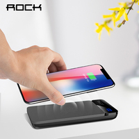 ROCK 2IN1 QI Wireless Charger Power Bank 5V 2A External Battery With Digital Display Powerbank For
