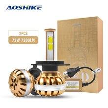 AOSHIKE 2Pcs S5 Led Headlight Bulbs Car Headlamp 40W 5200Lm Auto 6000K White Yellow Fog Light DC 12V 40w 5200LM