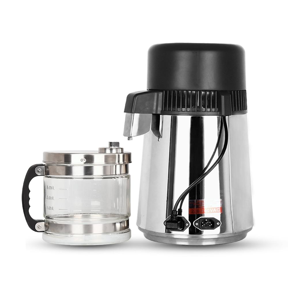 Бытовой дистиллятор 4L дистиллированная вода машина Дистилляция Очиститель фильтр из нержавеющей стали зубная Лаборатория Фильтр для воды